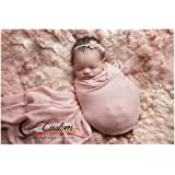 CUSTOM PHOTO PROPS - USA Co. - Weathered Rose Lux Stretch Knit Newborn Baby Wrap, Newborn Photography Props