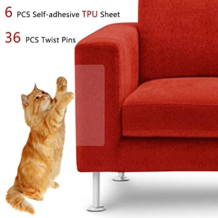 Super Merlerner 6 Packs Large Size Furniture Sofa Protectors From Cats Dog Flexible Clear Self Adhesive Tpu Twist Pins Cat Scratch Deterrent Andrewgaddart Wooden Chair Designs For Living Room Andrewgaddartcom