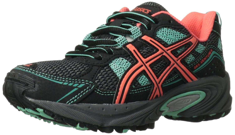 Asics Gel-Venture 4 GS Running Shoe (Infant/Toddler/Little Kid/Big Kid) Dark Charcoal/Coral/Mint 1.5 M US Little Kid GEL-VENTURE 4 GS - K