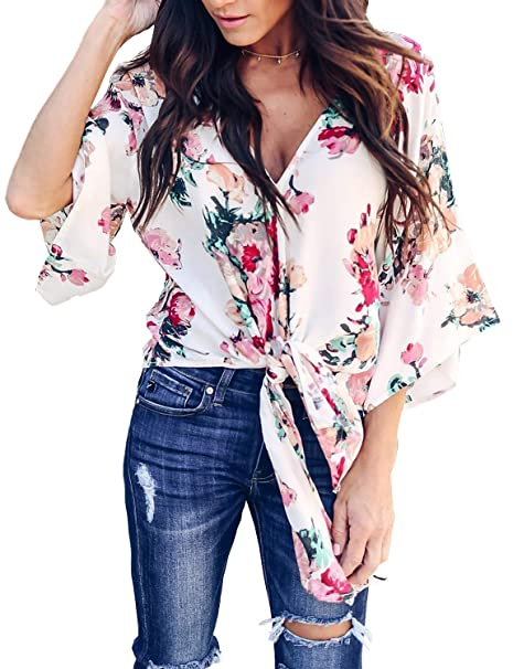 8b50bce9f69 BB KK Cute Pretty Flowy Boho Kimono Top Plus Size Robe Women