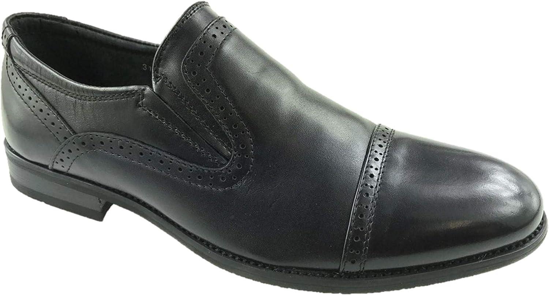 Generic - Zapatos Planos con Cordones de Piel Hombre