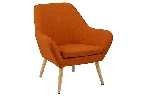 Sedia Imbottita Con Braccioli : Ac design furniture sedia imbottita in stoffa con braccioli