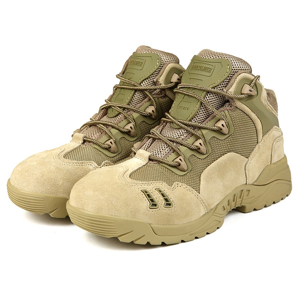 FREE SOLDIER Mens Mid Waterproof Hiking Boot Outdoor Backpacking Shoe