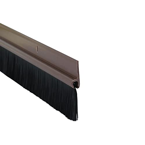 Stormguard 02SR0200838B Brosse bas de porte étanche aux courants d'air Brun 838 mm
