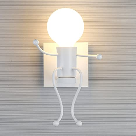 Southpo mini wall light fixture creative little people wall lamps southpo mini wall light fixture creative little people wall lamps bedroom modern decoration single head metal mozeypictures Gallery
