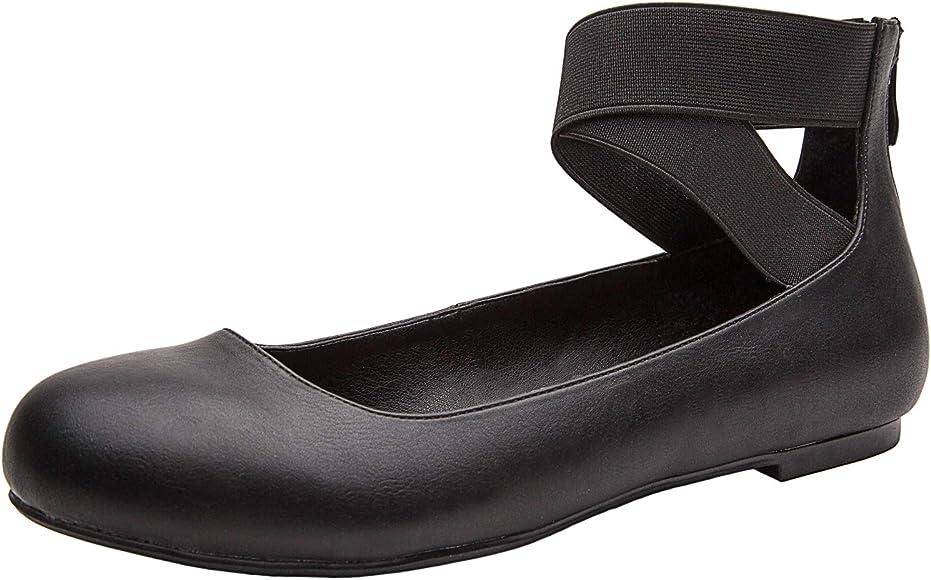 Luoika Women's Wide Width Flat Shoes