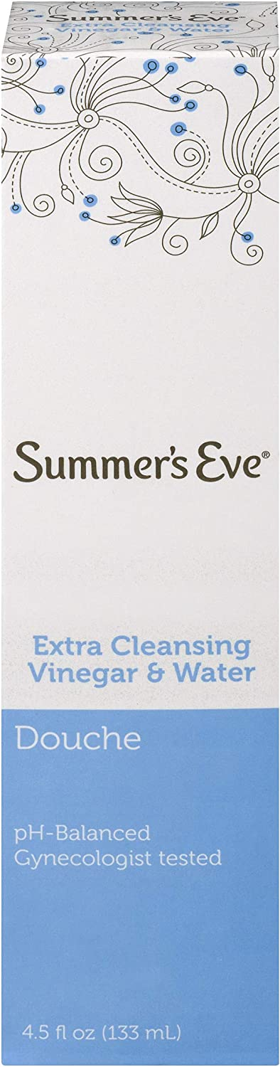 Summer's Eve Douche, Vinegar and Water, pH Balanced & Gynecologist Tested, 4.5 Fl Oz: Health & Personal Care