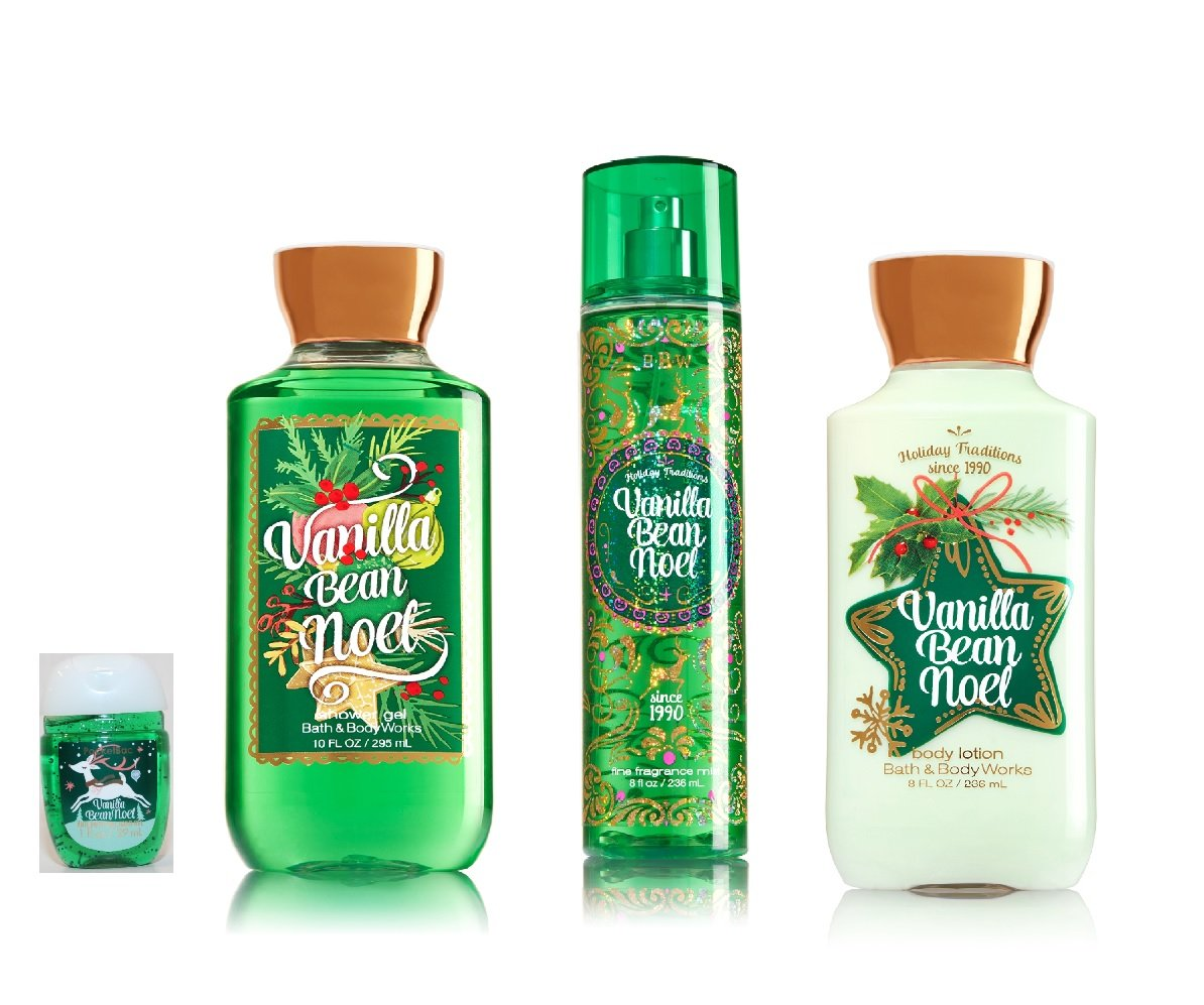 Bath and body works holiday scents - Amazon Com Bath Body Works Signature Collection Winter 2016 Vanilla Bean Noel Shower Gel Fine Fragrance Mist Body Lotion Pocketbac