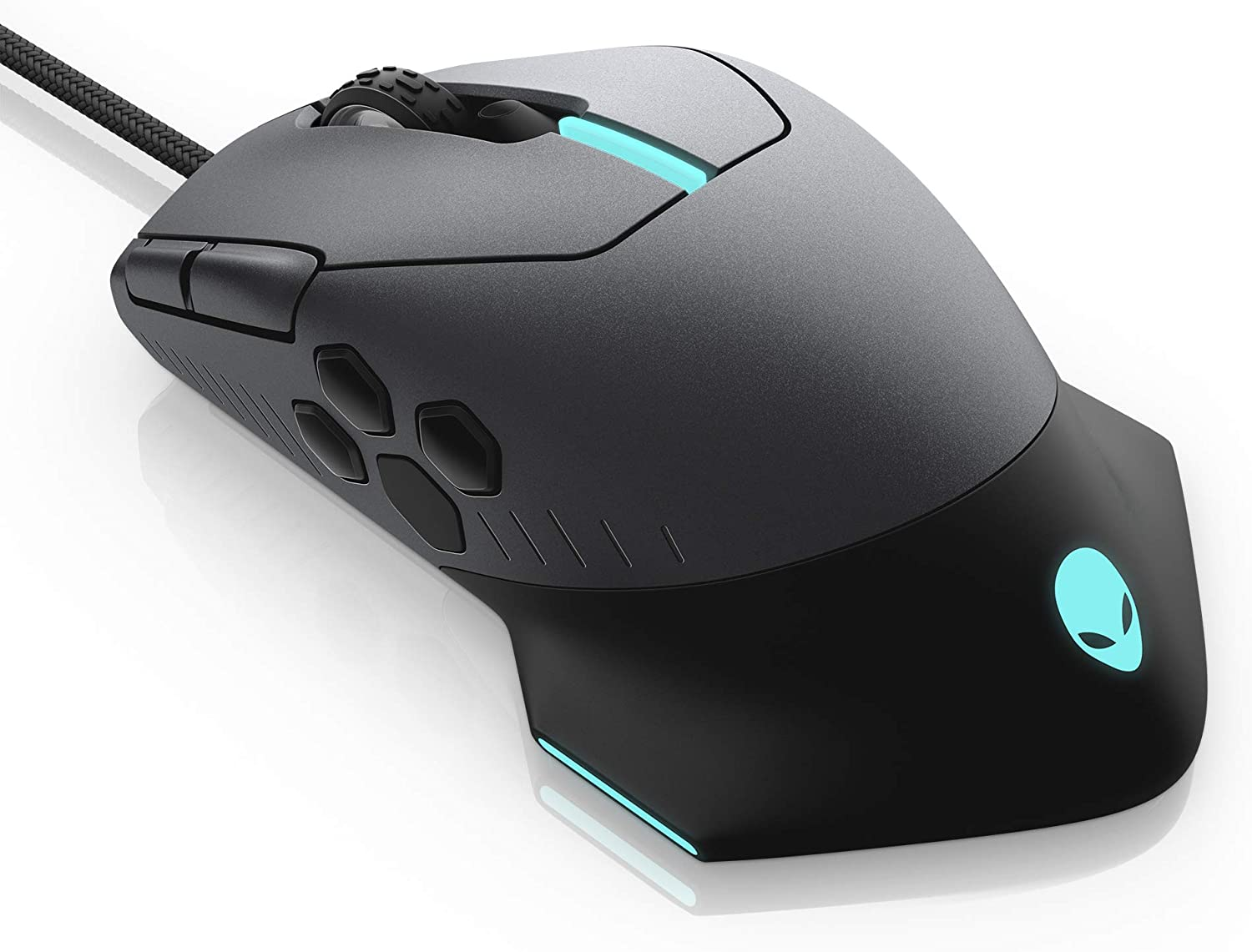 Alienware Gaming Mouse 510M RGB Gaming Mouse AW510M: 16, 000 DPI Optical Sensor - Alienfx RGB - 10 Buttons - Adjustable Scroll Wheel - Large Click Anywhere L/R Buttons