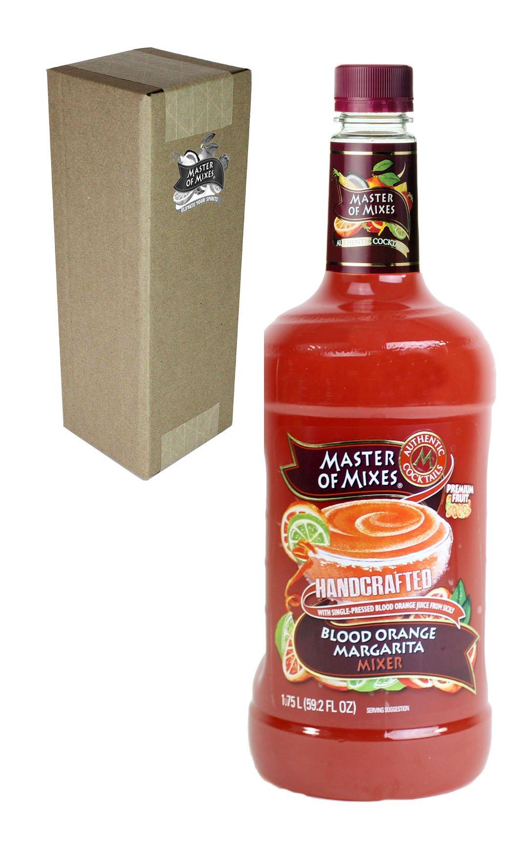 Master of Mixes Blood Orange Margarita Drink Mix, Ready to Use, 1.75 Liter Bottle (59.2 Fl Oz), Individually Boxed