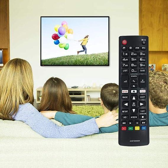 FOXRMT AKB75095308 Mando a distancia para LG TV Smart TV LG Ultra HD con botones Netflix Amazon – No requiere instalación: Amazon.es: Electrónica