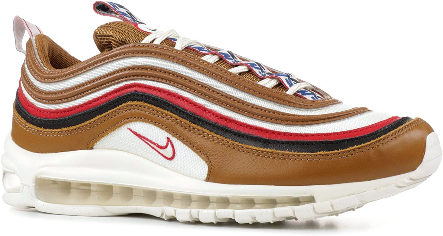 Nike Mens AIR MAX 97 TT PRM Shoe Pull TAB Brown//SAIL//Black