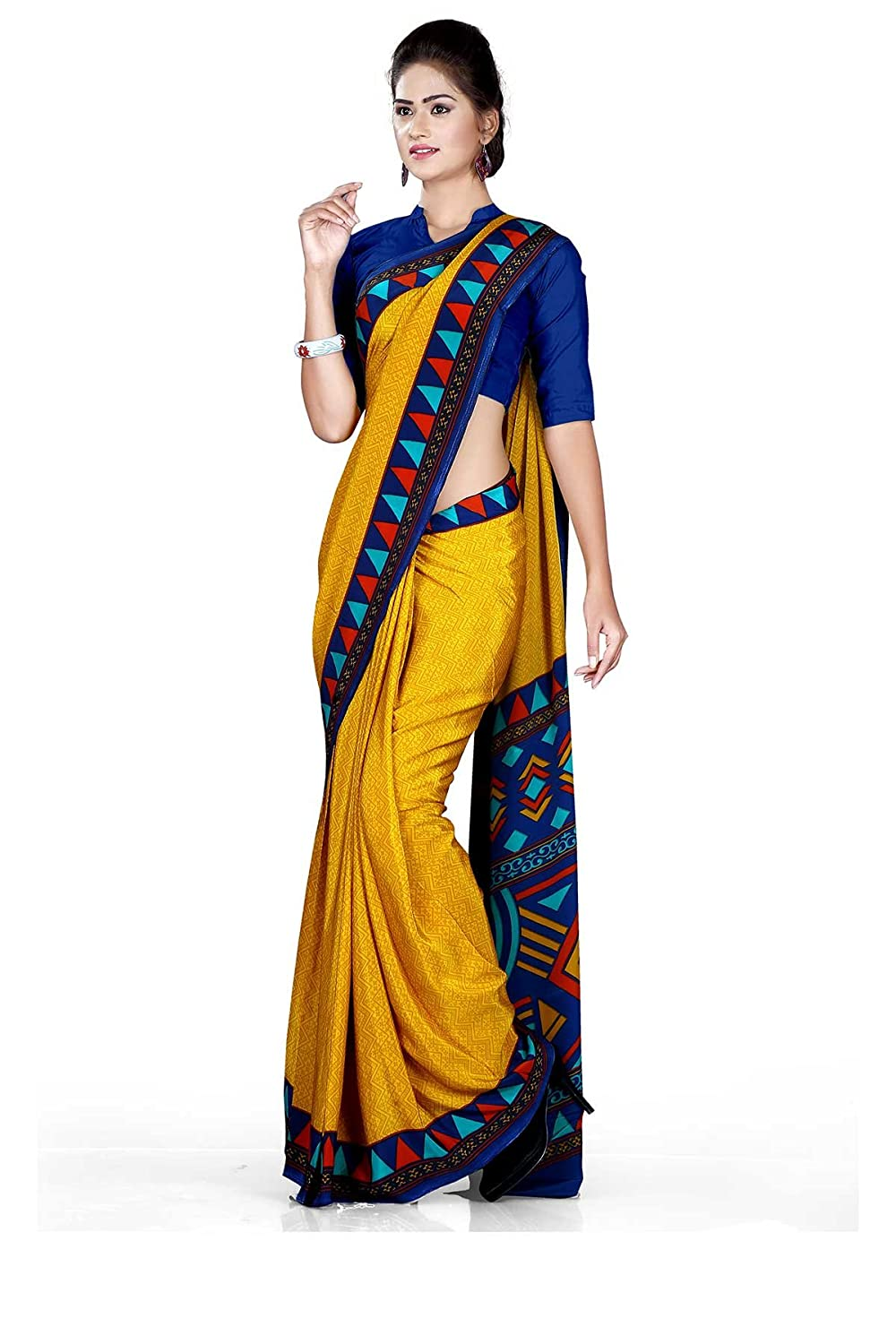 Uniform sarees crepe saree 68015nevy blue amazon clothing uniform sarees crepe saree 68015nevy blue amazon clothing accessories thecheapjerseys Gallery