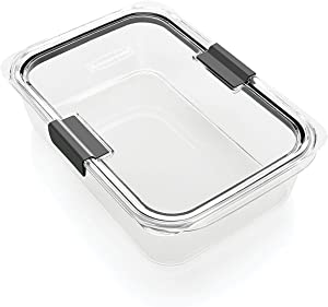 Rubbermaid Brilliance Food Storage Container, 100% Leak-Proof, Large, 9.6 Cup