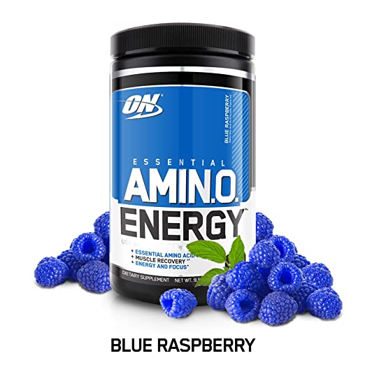 OPTIMUM NUTRITION ESSENTIAL AMINO ENERGY, Blue Raspberry, Keto Friendly Preworkout and Essential Amino Acids with Green Tea and Green Coffee Extract, 30 Servings best pre-workout supplement
