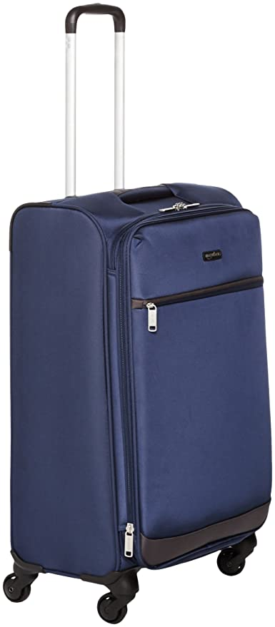 AmazonBasics 74 cm Navy Blue Softsided Check-in Trolley  Amazon.in  Bags 460cc6362e6d1