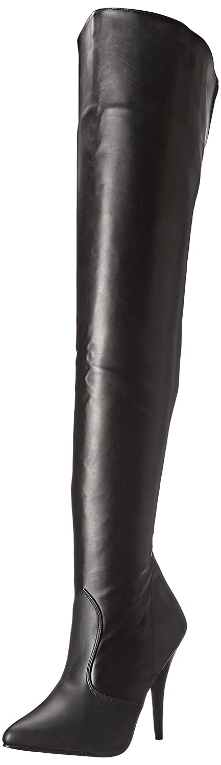 Deluxe Adult Costumes - Women's Pleaser Seduce-3010 Thigh High Faux Faux Leather Boot