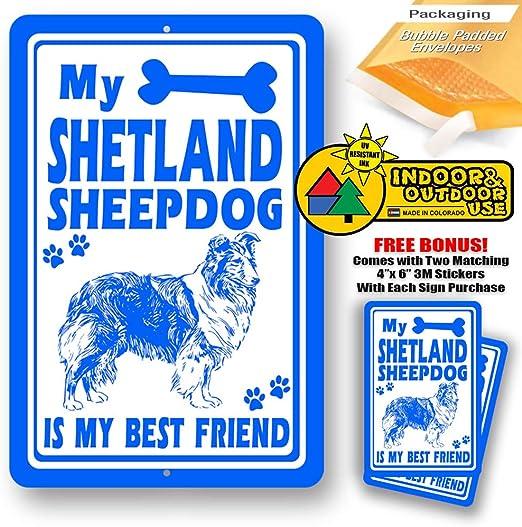 Amazon.com: My Shetland – Cartel para hombre con texto en ...