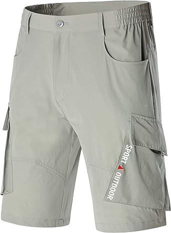 Lightweight Cargo Tatical Zipper Pockets Camping Travel Shorts Men Hiking Casual Quick Dry Short