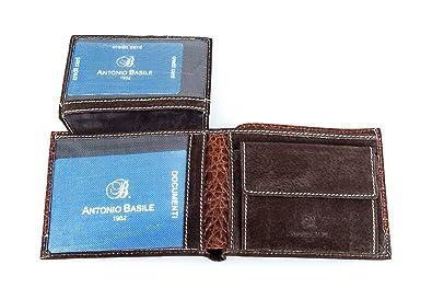 Amazon.com: portafolios hombre ANTONIO BASILE real piel ...