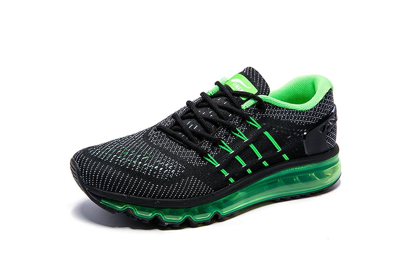 Onemix Air Zapatos para Correr en Montaña y Asfalto Aire Libre y Deportes Zapatillas de Running Padel para Hombre 41 EU|Negro / Verde