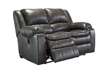 Ashley Furniture Signature Design - Long Knight Recliner Loveseat - Power Reclining Sofa - Gray  sc 1 st  Amazon.com & Amazon.com: Ashley Furniture Signature Design - Long Knight ... islam-shia.org