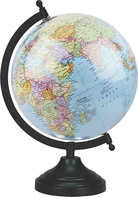 Amazon educational globe 8 diameter educational rotating educational globe 8quot diameter educational rotating national geographic blue laminated world globe with stand gumiabroncs Gallery