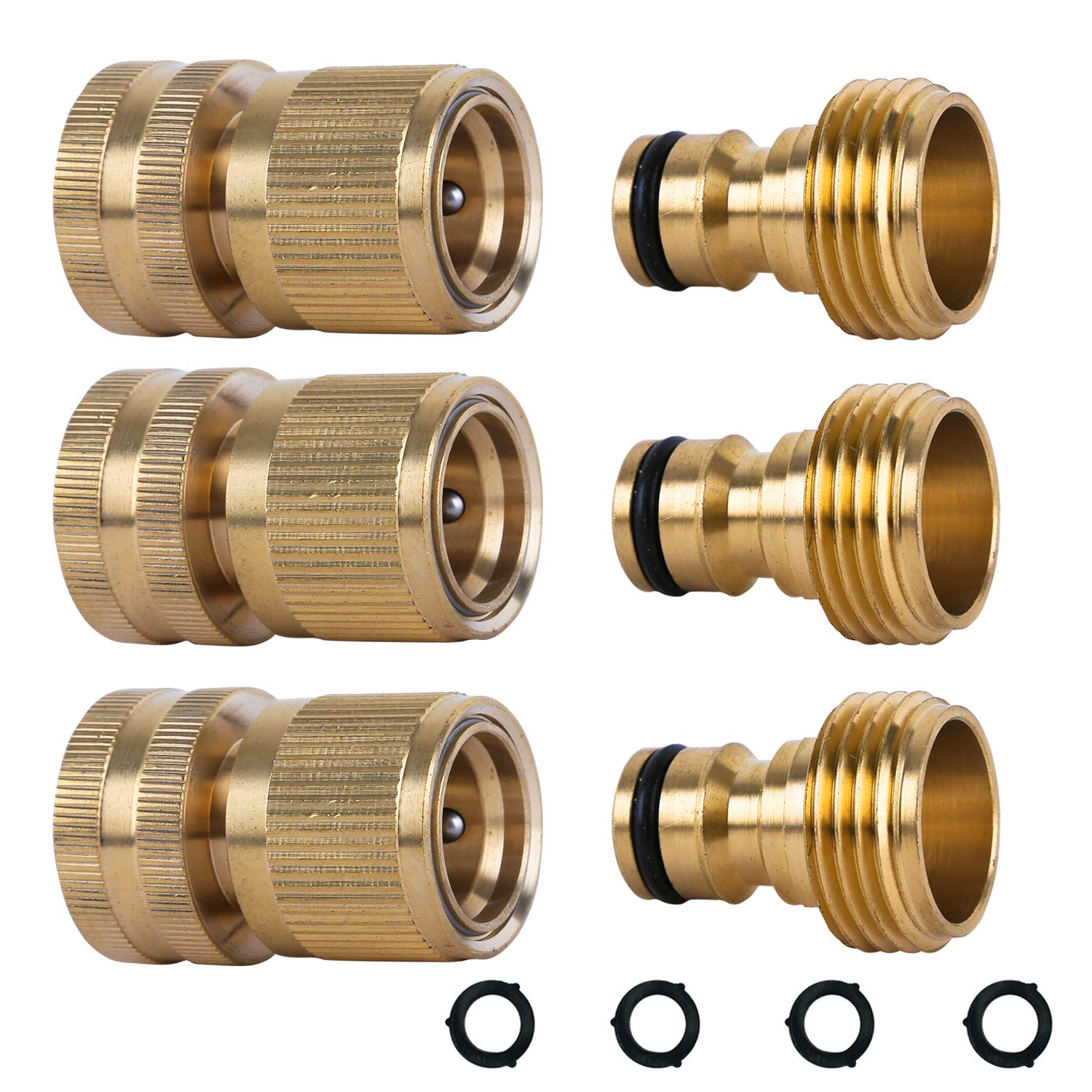 Amazon Com Hqmpc Garden Hose Quick Connect Solid Brass Quick