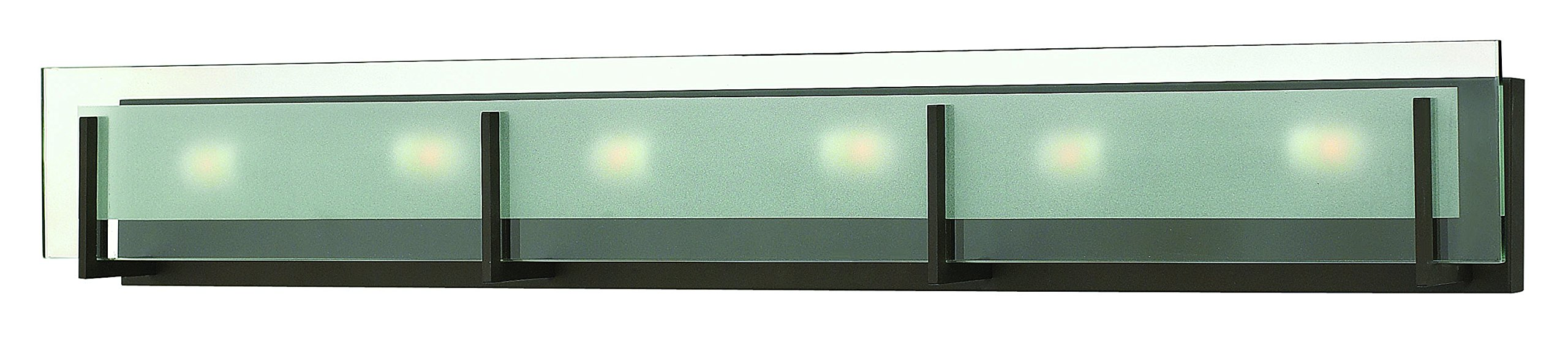 Hinkley 5656OZ Contemporary Modern Six Light Bath from Latitude collection in Bronze/Darkfinish,