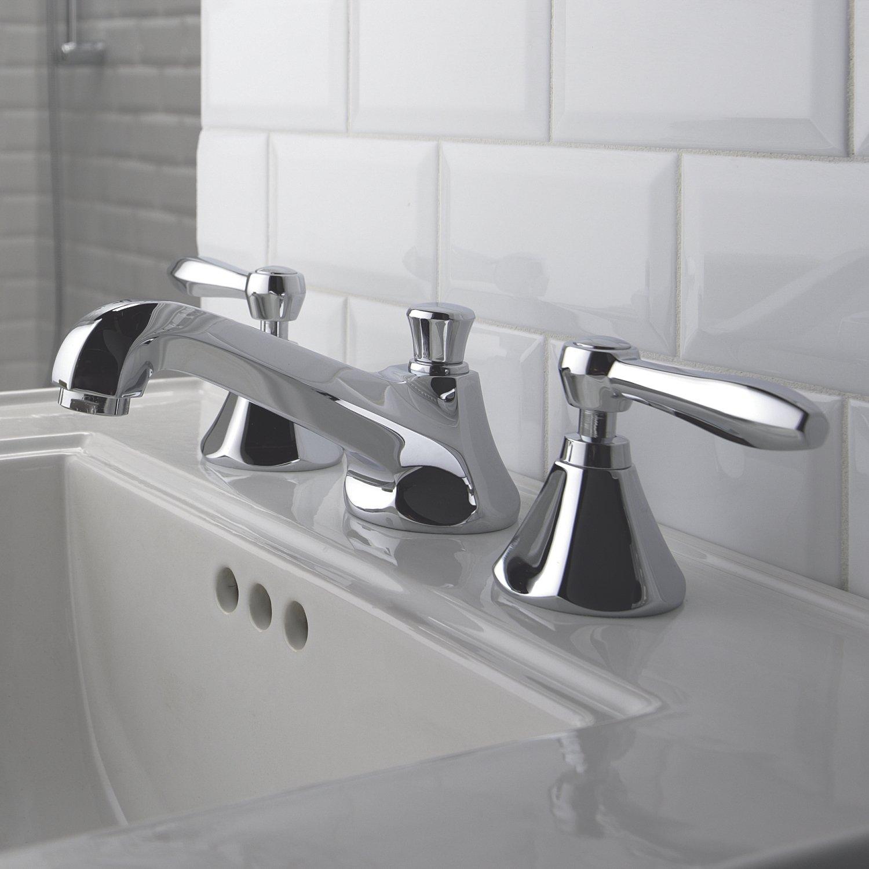 Somerset 8 in Widespread 2 Handle Low Arc Bathroom Faucet 1 5