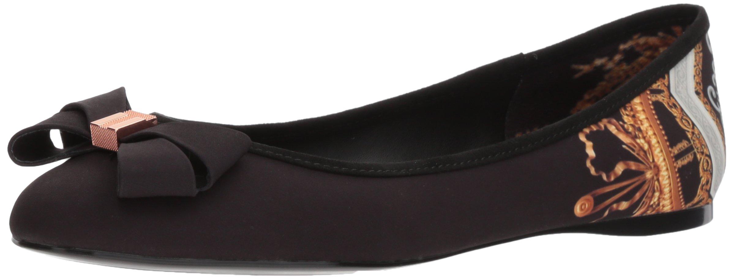Ted Baker Women's Immet Ballet Shoe, Black Versailles Textile, 6.5 B(M) US