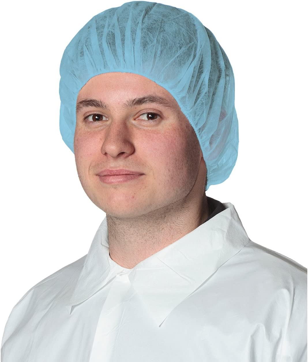 Pioneer V7012140-O//S Disposable Bouffant Cap Polypropylene Blue Fit All