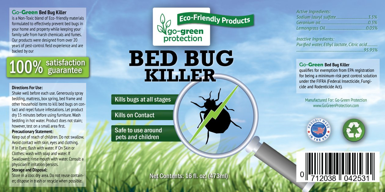 Amazon Com Natural 2 In 1 Bed Bug Killer Repellent By Go Green