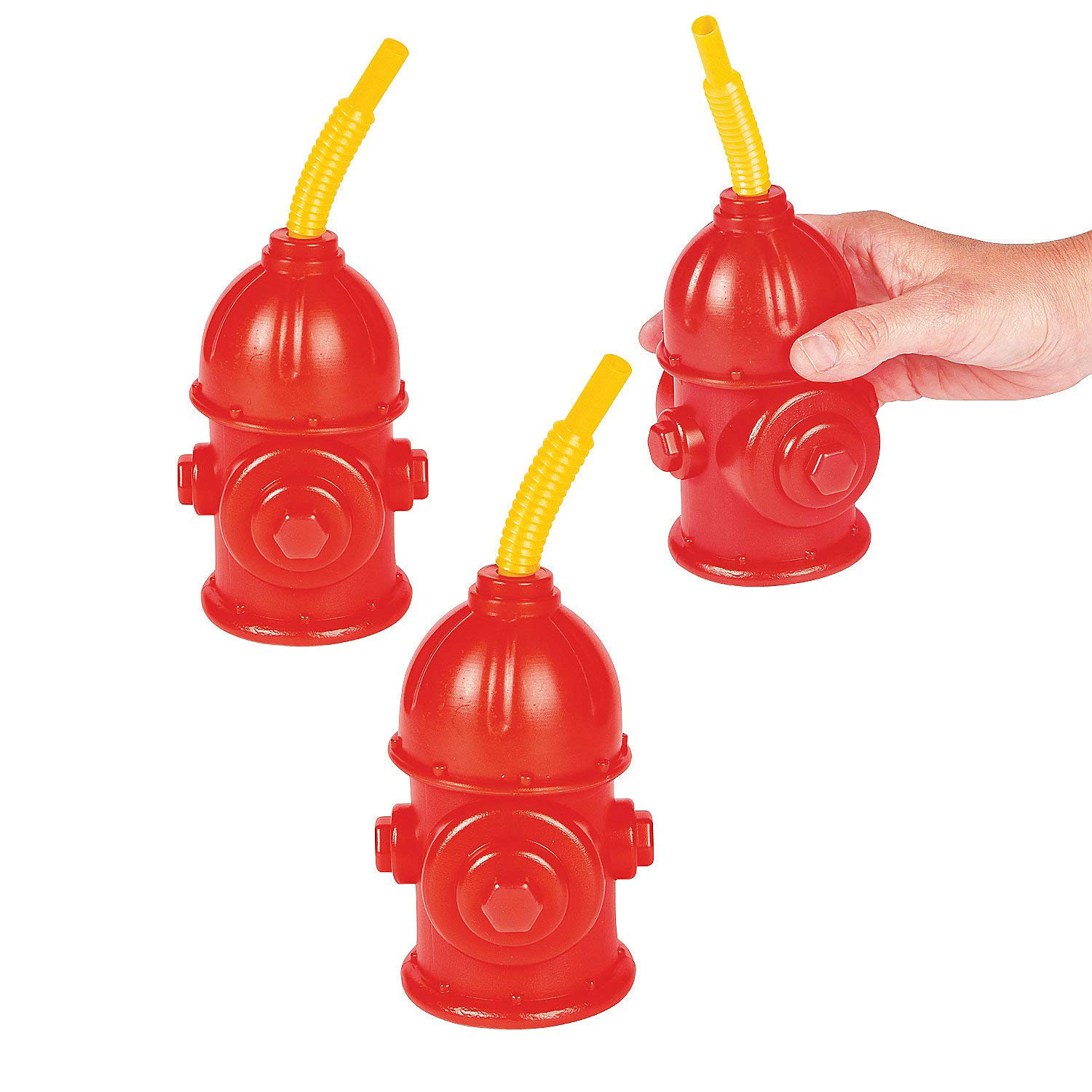 Fire Hydrant Molded Cups (8pc) for Birthday by Fun Express