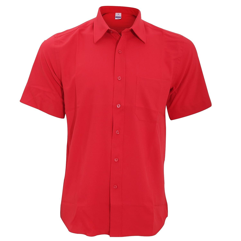 Henbury Mens Wicking Anti-bacterial Short Sleeve Work Shirt