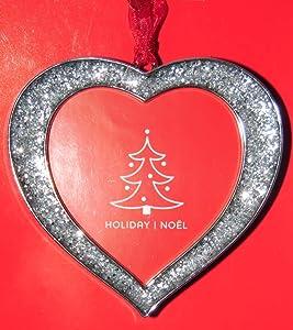 Studio Decor Heart Bling Christmas Ornament Photo Frame Enamel Metal