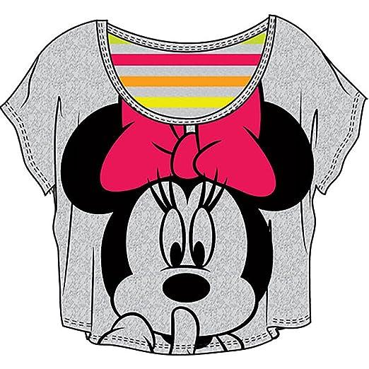 99402d8905d98 Amazon.com  Disney Classic Minnie Mouse  Shhhhh  Junior Girls Crop ...