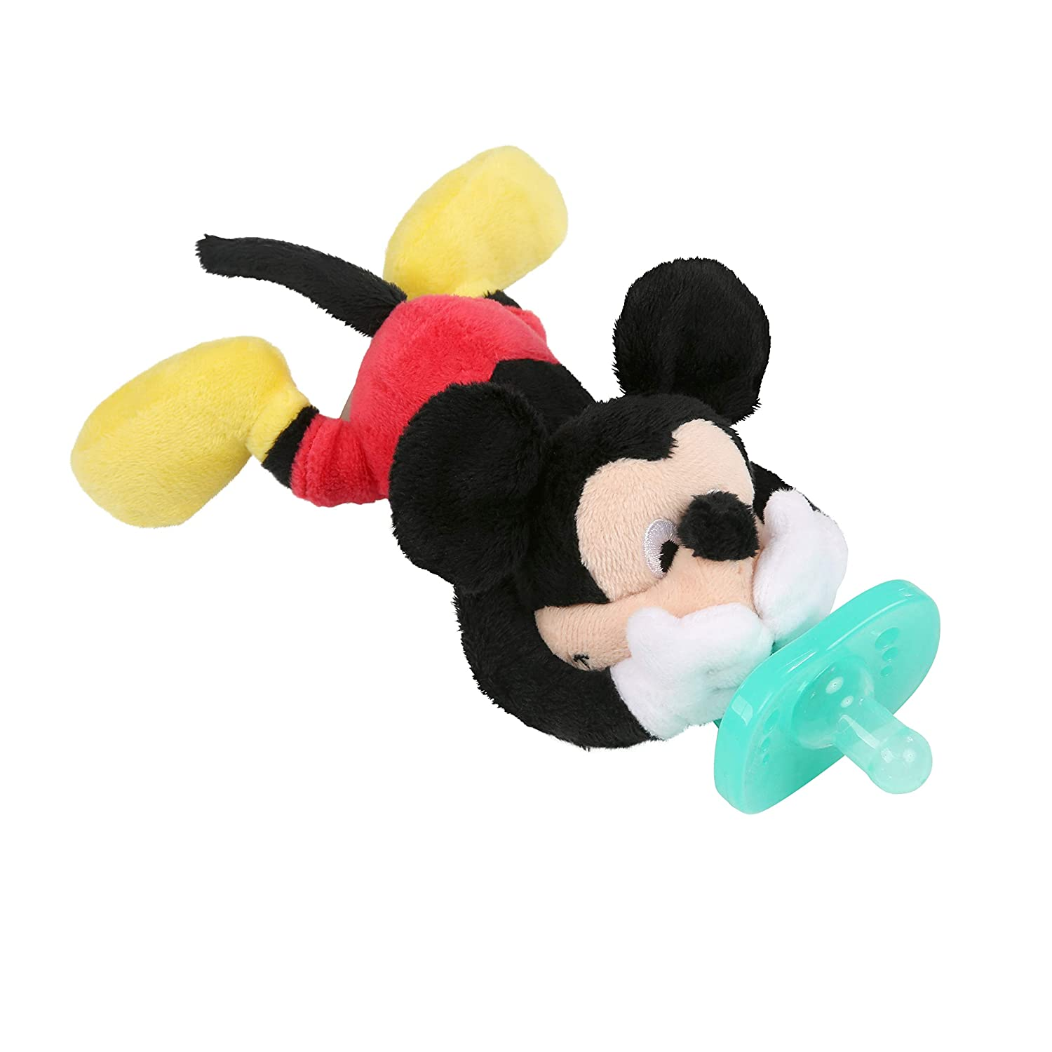 Bright Starts Disney Baby Cozy Coo Soothing BPA-Free Pacifier with Plush Toy - Minnie Mouse, Ages...