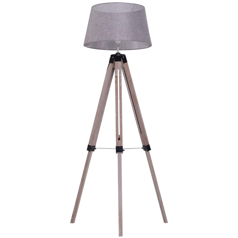 Stehleuchte Schlafzimmer | Homcom Stehlampe Hohenverstellbar Tripod Hohenverstellbar Stehlampe