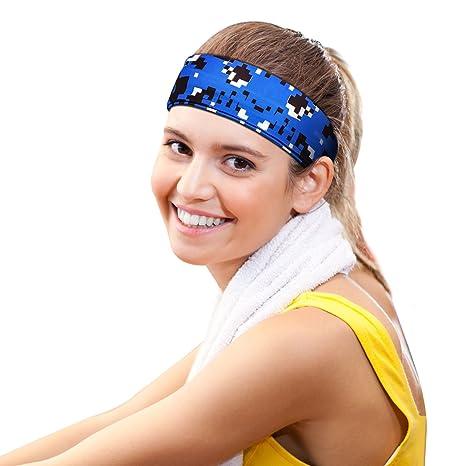 66577ee2ee6573 Suntop Headbands,Sport Stirnband,Stirnband Schweißband Elastische Sport  Kopf Bands Rutschfeste Feuchtigkeitstransport Headwear für