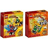 Lego Super Heroes Micro Spider Thor Bundle Building Kit (168 Piece)