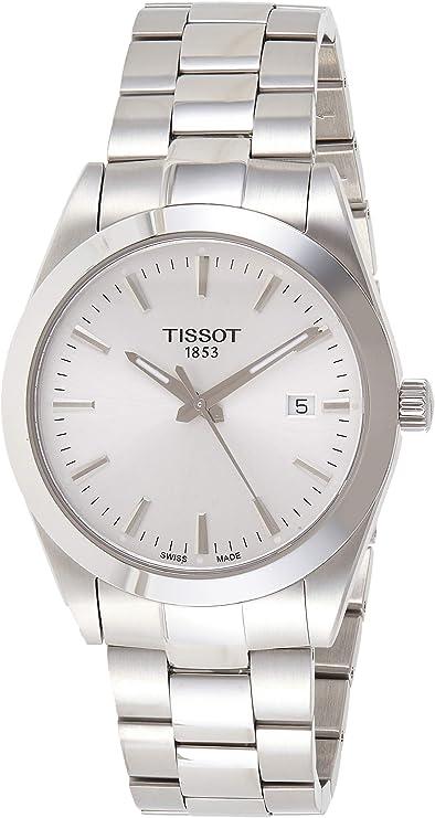 Tissot Mens Gentleman Swiss Quartz Stainless Steel Dress Watch (Model: T1274101103100)