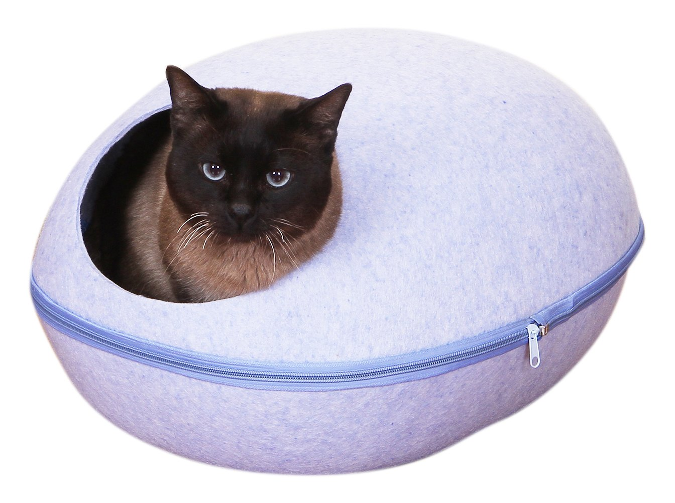 PetPals Sky Pod Blue Felt Bed with Removable Cover, One Size by PetPals