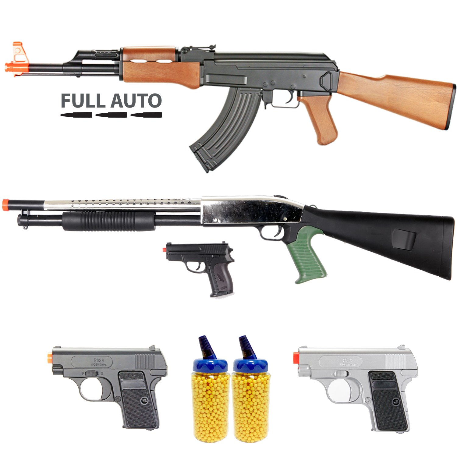 amazon com bbtac airsoft gun package milita collection of 5