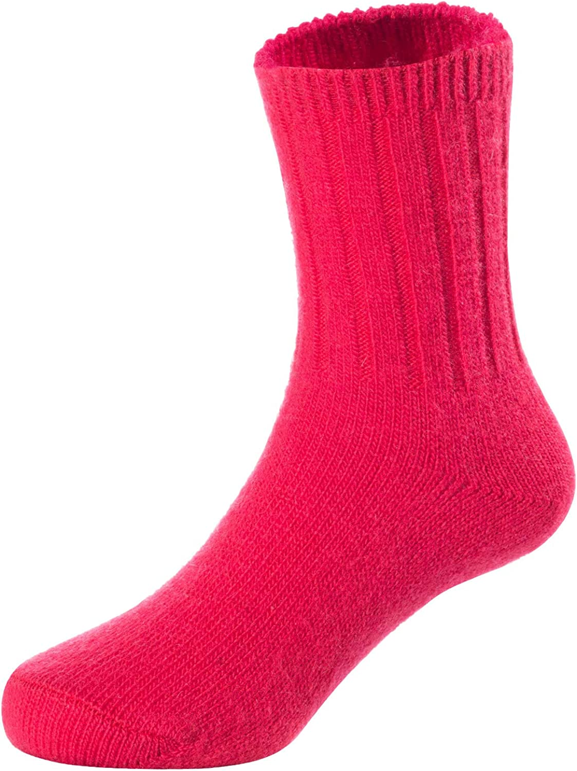 Durable 2 Pairs Childrens Comfy Stretchable Wool Crew Socks Size 0Y-6Y