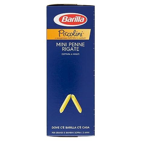 Barilla Pasta Piccolini Mini Penne Rigate Semola Di Grano Duro 500