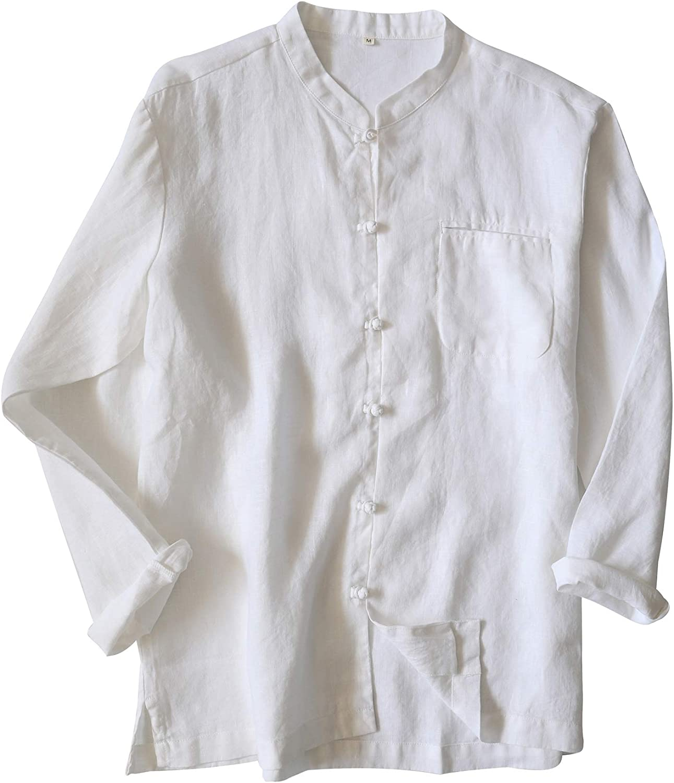 Icegrey Camisa China Hombre Casual Camiseta con Cuello Mao: Amazon.es: Ropa y accesorios