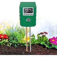 XDDIAS Bodemtester, 3-in-1 plantenvochtigheidsmeetinstrument, grondpH waarde/vochtigheid/lichtsterkte meter planttester…