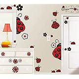 Ladybug, Ladybug Giant Peel and Stick Wall Decals, Removable and Reusable