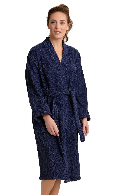 Soft Touch Linen 100/% Pure Cotton Turkish Terry Kimono Bathrobe